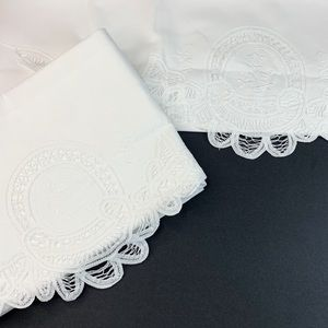 Vintage Embroidered Lace Insert Pillow Cases